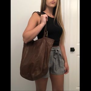 Coach leather tote bag large